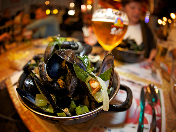 Mussel and chips, Lille Braderie