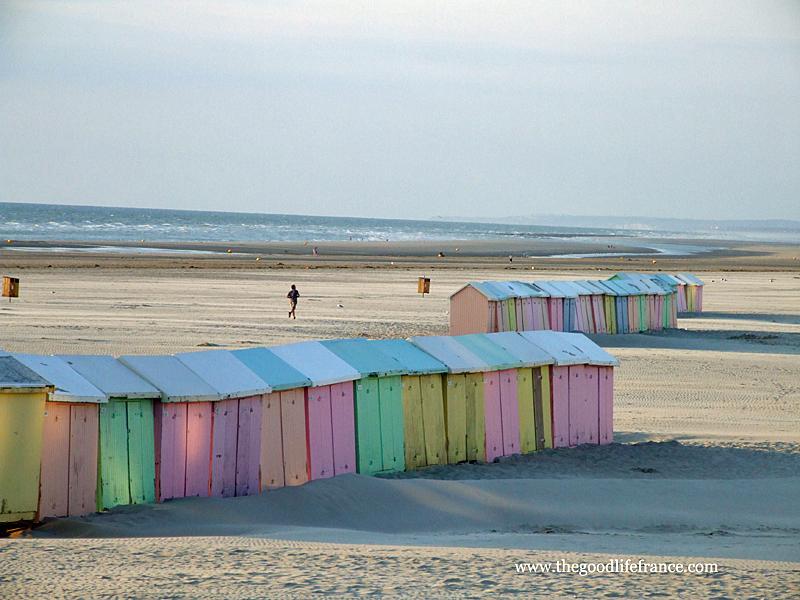 Beach huts, Opal coast, France