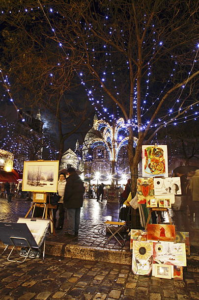Montmartre Christmas Lights, Paris