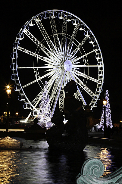 Place de la Concorde, Christmas lights Paris