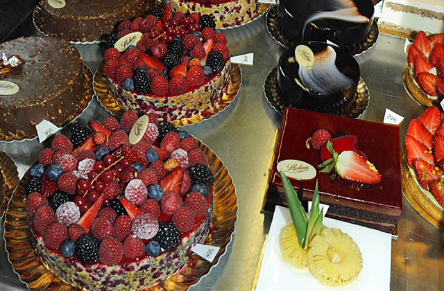 Cakes at La Maison Stohrer, the oldest patisserie in Paris