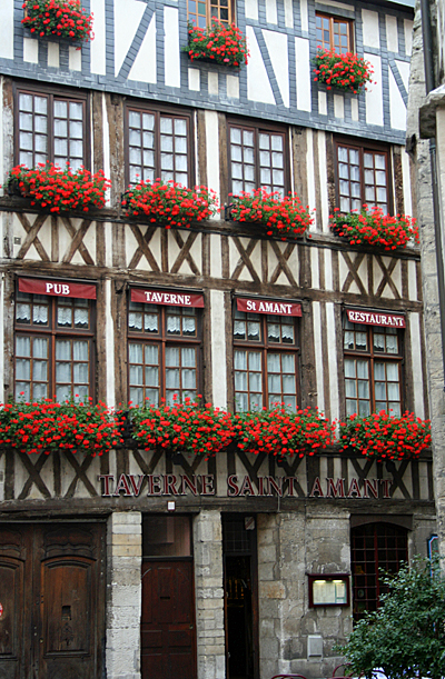 Rouen timbered houses