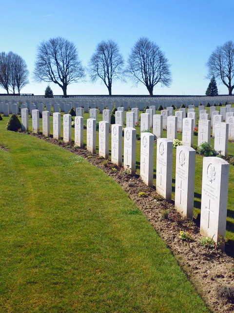The British cemetery, Cabaret Rouge