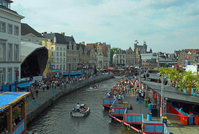Festival from bridge