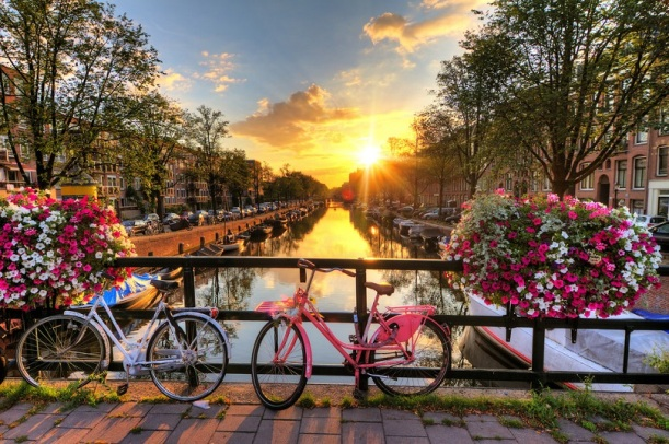 Amsterdam's canal and bicycles