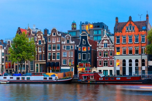 Amsterdam's canals, the dancing houses