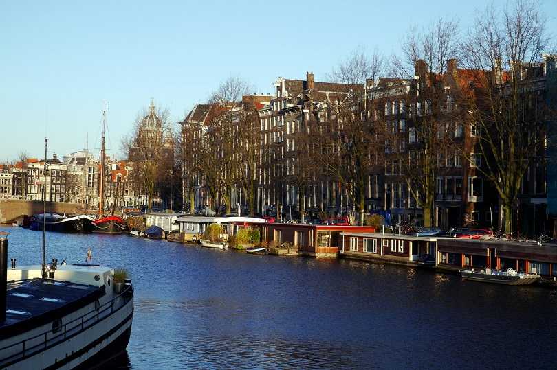 Amsterdam's canals, houseboats.